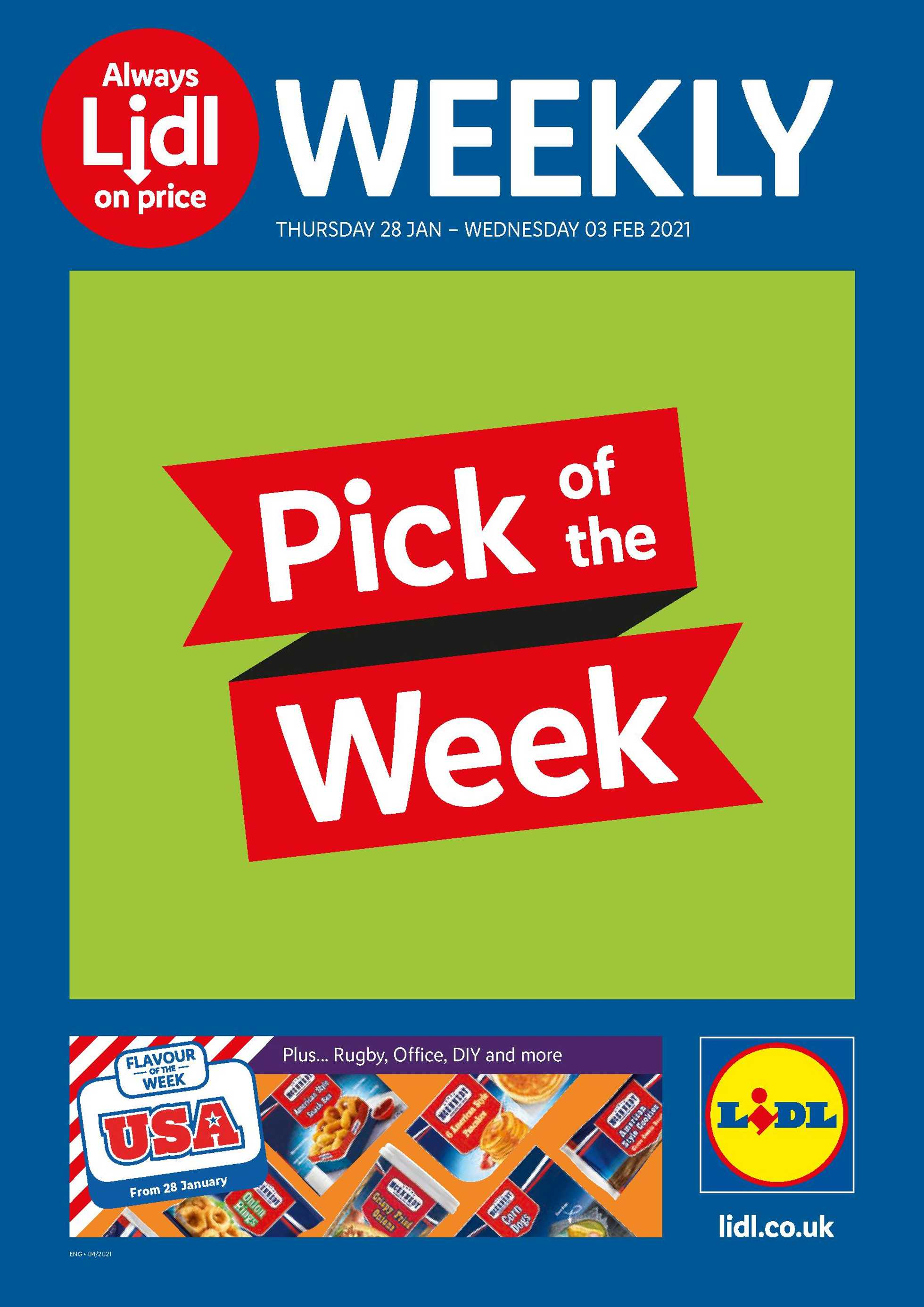 Lidl - deals are valid from 28.01.2021 to 03.02.2021 - page 1.