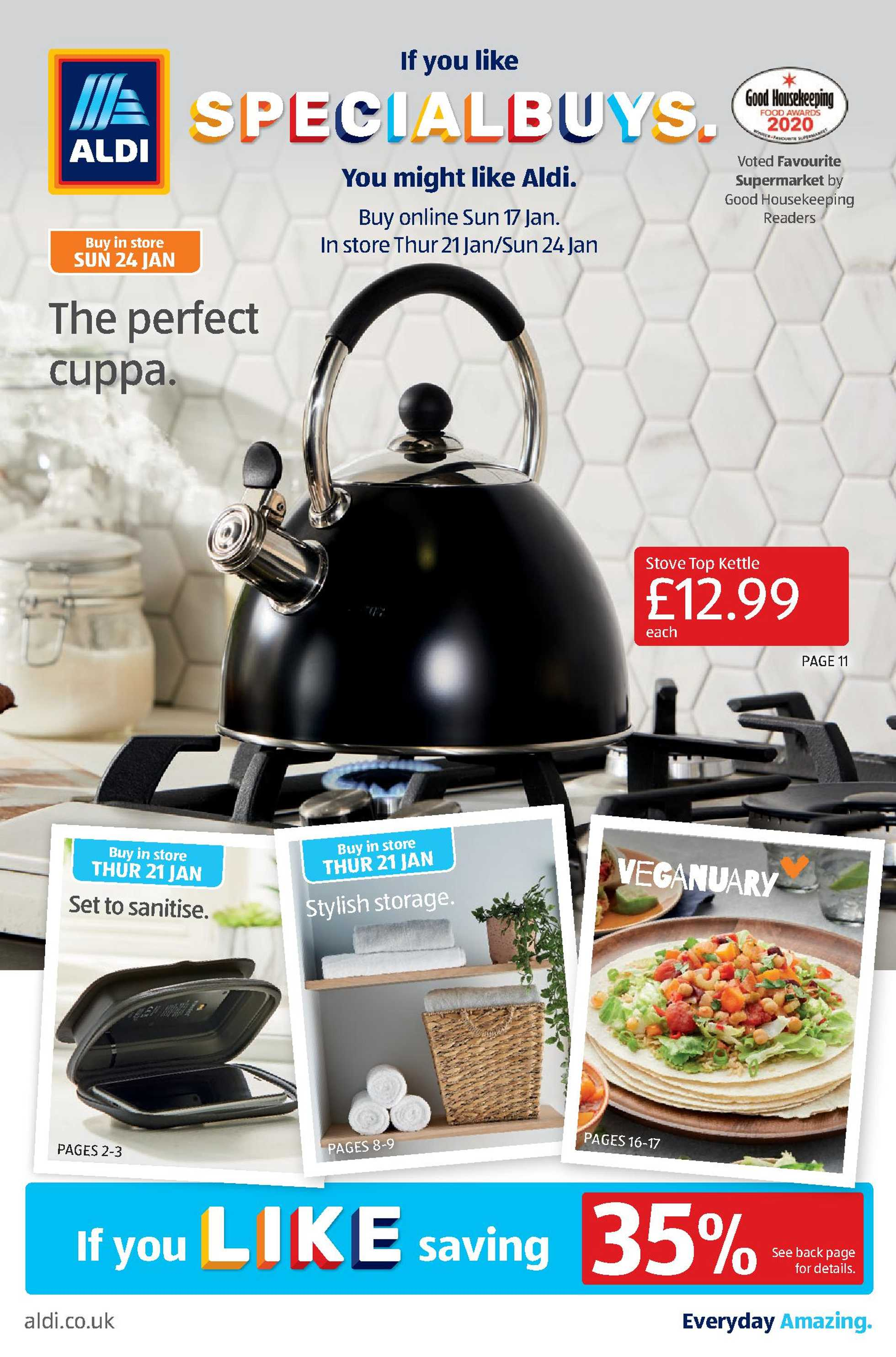 Aldi UK - deals are valid from 18.01.2021 to 24.01.2021 - page 1.