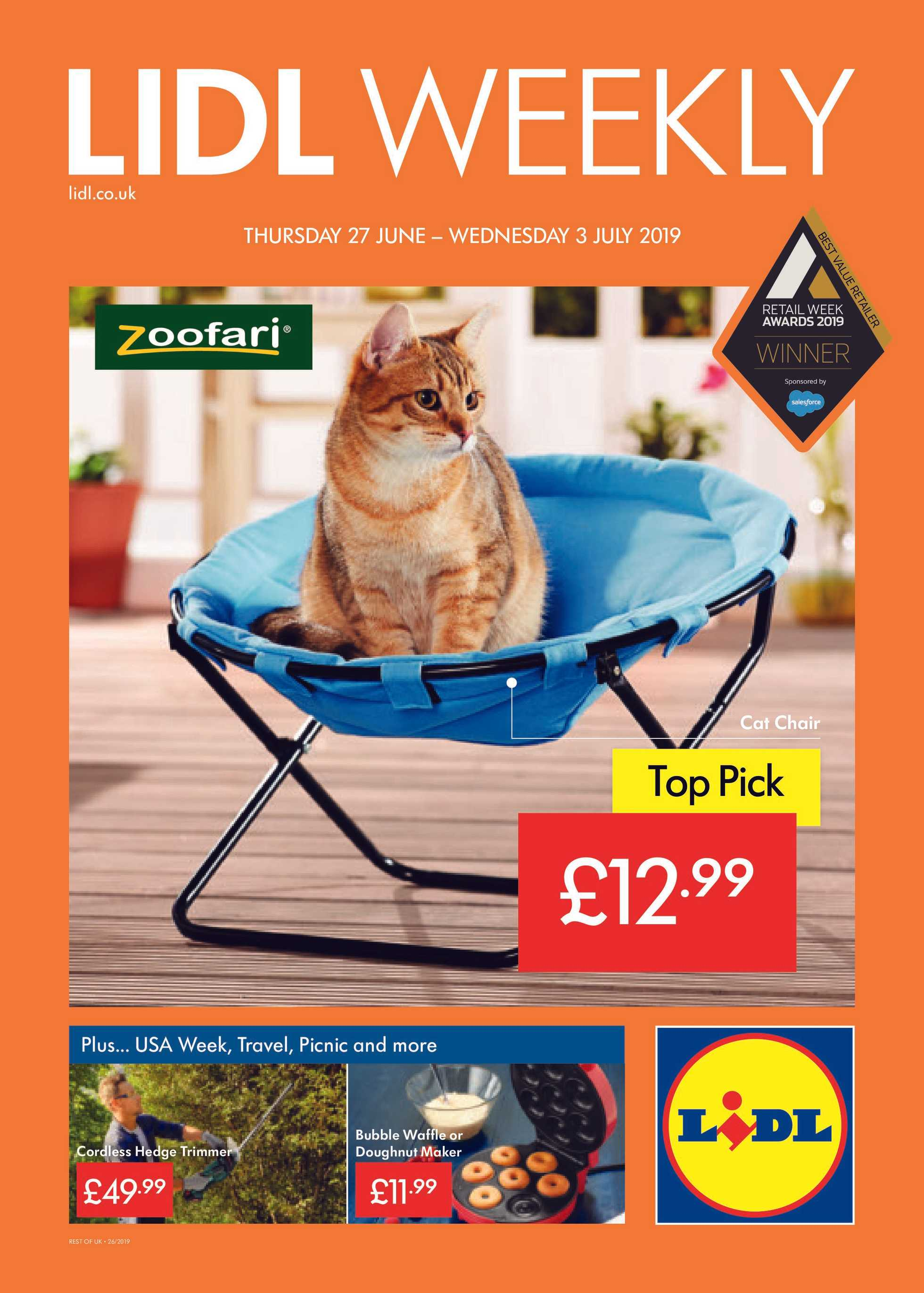 Lidl - promo starting from 27.06.2019 to 03.07.2019 - page 1.