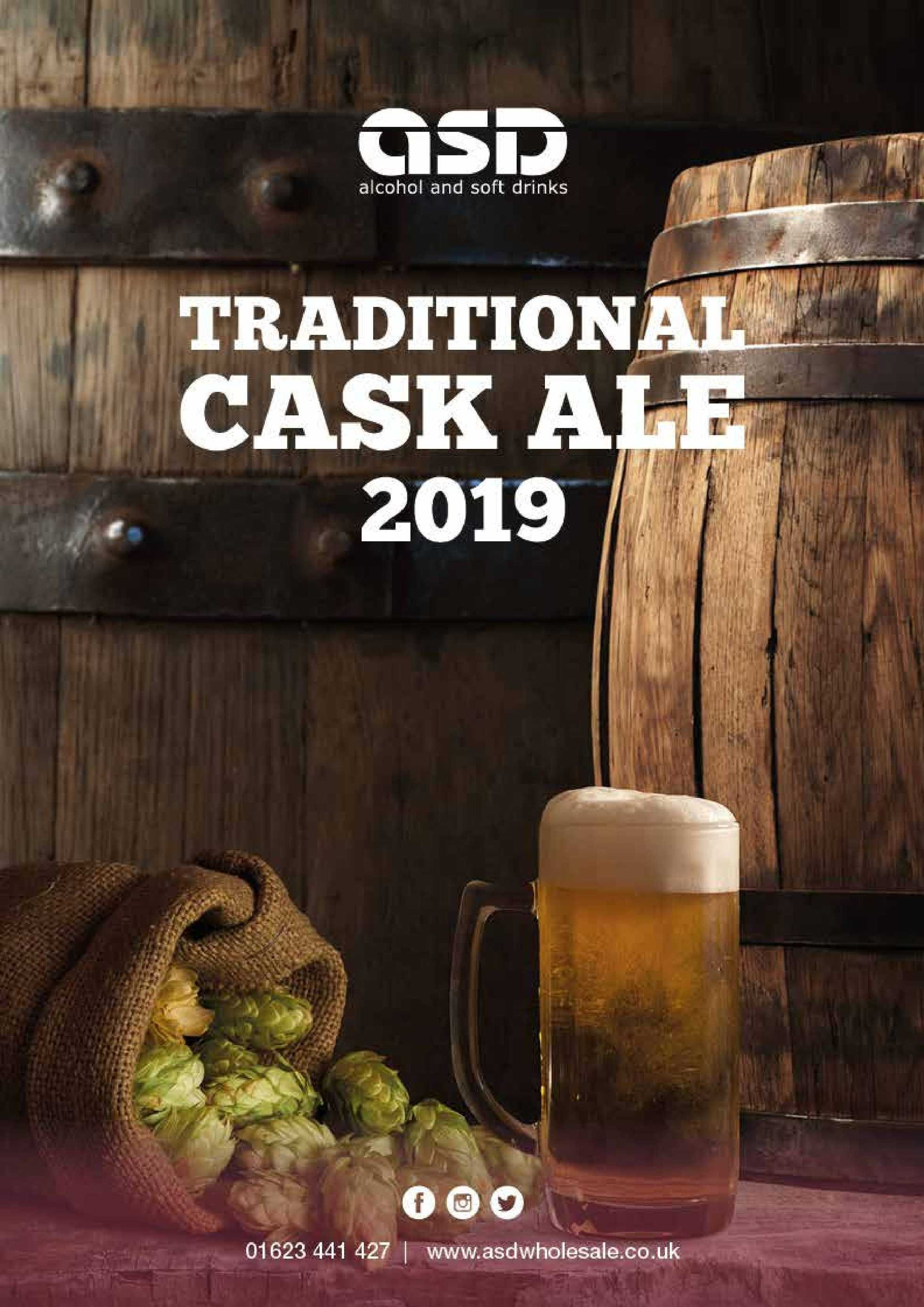 ASD Wholesale - promo starting from 01.01.2019 to 31.12.2019 - page 1. The promotion includes ale, alcohol