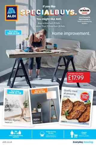 Promo from Aldi UK valid from 22-02-2021 to 28-02-2021